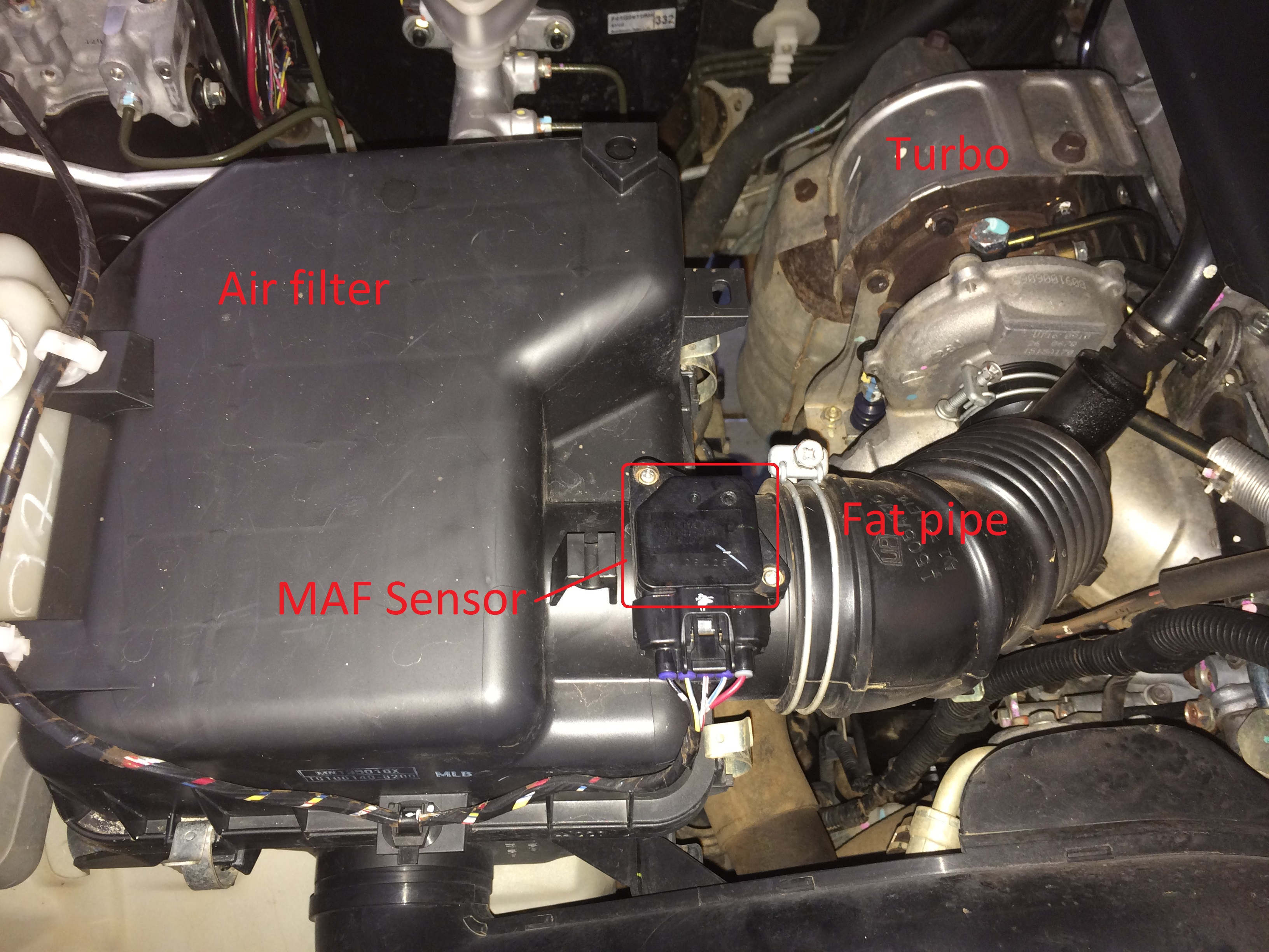 How To Clean The Maf Sensor On A 4wd Mitsubishi Montero Wiring Lights Location Pb Challenger